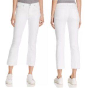 Ag Adriano Goldschmied White Jodi Crop Jeans